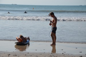 erste Surfstunde bei Granja